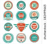 premium quality badges and... | Shutterstock .eps vector #182499665
