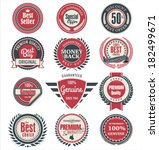 premium quality badges and... | Shutterstock .eps vector #182499671