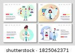 set of web pages for medical... | Shutterstock .eps vector #1825062371