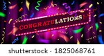 congratulations background with ... | Shutterstock . vector #1825068761