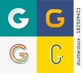 letter g | Shutterstock .eps vector #182509421
