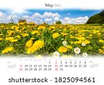 Calendar May 2021  B3 Size. Set ...