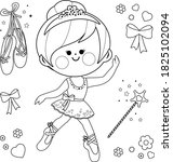 beautiful ballerina girl....   Shutterstock .eps vector #1825102094