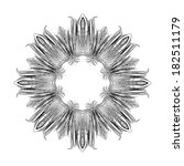 black lines mandala in circle | Shutterstock .eps vector #182511179
