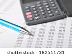 financial calculations  rows... | Shutterstock . vector #182511731