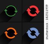 4 arrow icon. set 02. refresh ...