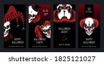a set of halloween cards... | Shutterstock .eps vector #1825121027