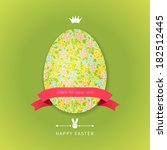 easter egg with floral elements ...   Shutterstock .eps vector #182512445