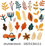 vector collection of autumn...   Shutterstock .eps vector #1825136111