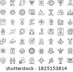 thin outline vector icon set... | Shutterstock .eps vector #1825153814