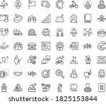 thin outline vector icon set... | Shutterstock .eps vector #1825153844