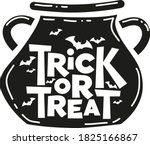 trick or treat hand drawn... | Shutterstock .eps vector #1825166867