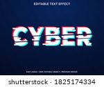 cyber text effect template with ...   Shutterstock .eps vector #1825174334