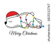 merry christmas card design ... | Shutterstock .eps vector #1825212767