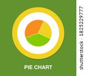 pie chart icon in trendy flat...