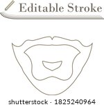 goatee icon. editable stroke... | Shutterstock .eps vector #1825240964