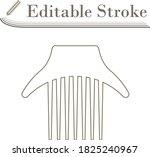 comb icon. editable stroke...
