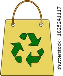 shopping bag with recycle sign...