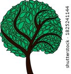 ecological tree with leaves...