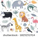 cute vector seamless pattern... | Shutterstock .eps vector #1825251914