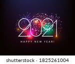 2021 happy new year... | Shutterstock .eps vector #1825261004