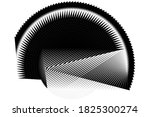 abstract halftone lines... | Shutterstock .eps vector #1825300274
