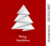 christmas tree with origami... | Shutterstock .eps vector #1825311887