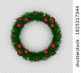 christmas wreath. png wreath.... | Shutterstock .eps vector #1825317344