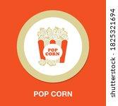 pop corn icon   simple  vector  ...