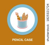 pencil case icon   simple ...
