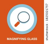 magnifying glass icon   simple  ...
