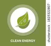 clean energy flat icon   simple ...