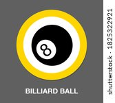 billiard ball icon   simple ...