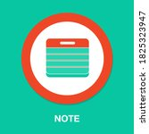 note flat icon   simple  vector ...