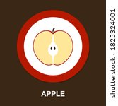 apple icon   simple  vector ...