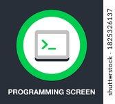 programming screen flat icon  ...