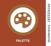 palette flat icon   simple ...