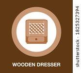 wooden dresser icon   simple ...