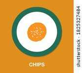 chips icon   simple  vector ...