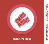 bacon red flat icon   simple ...