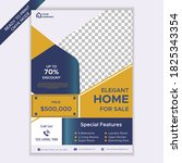 home for sale real estate flyer ... | Shutterstock .eps vector #1825343354