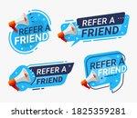 refer a friend banner label... | Shutterstock .eps vector #1825359281