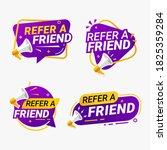 refer a friend banner label... | Shutterstock .eps vector #1825359284