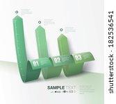 modern vector abstract 3d... | Shutterstock .eps vector #182536541