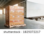 Cargo Trailer Truck Parked...
