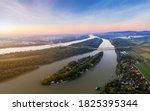 Luppa Island On Danube River...