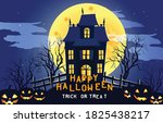 happy halloween scary... | Shutterstock .eps vector #1825438217