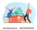 senior couple getting profit... | Shutterstock .eps vector #1825446944