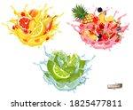 set of fruit juice and water... | Shutterstock .eps vector #1825477811