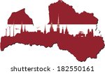 latvia map in flag colors and... | Shutterstock .eps vector #182550161